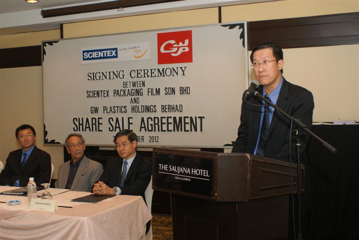 Scientex to buy GW Plastics Holdings Berhad units