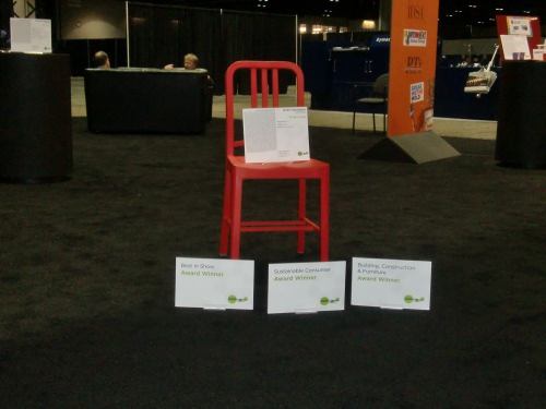 Chair made of recycled PET is the Top Winner of the 2nd International Plastics Design Competition at NPE2012