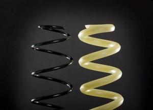 Goodbye steel: plastic coil springs debut