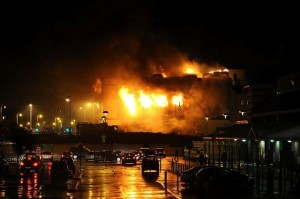 Control factory fire in plastics and discarded toxic hazard