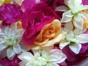 Instead of fresh-cut, try plastic flowers?