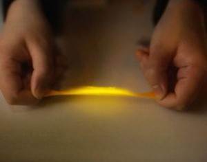 Eindhoven University of Technology created a plastic that emits light when pulled