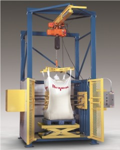 AUTOMATED BULK BAG CONDITIONER LOOSENS SOLIDIFIED MATERIALS
