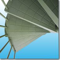 Modular spiral staircase made of engineering plastics