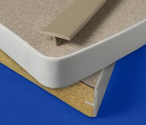 Polypropylene T-Edges for Furniture Provide Secure, Uniform Coverage around Curves, without Stress-Whitening or Trimming