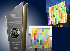 Innovative extrusion process for coloured ETFE architectural membranes wins 2nd prize in DuPont Plunkett Awards 2013