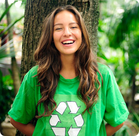 Recycled plastics making a sustainable fashion statement
