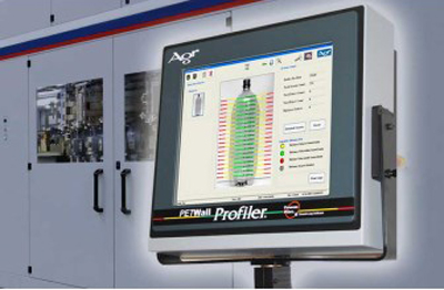 Agr's Process Pilot provides precise material thickness distribution and defect detection for PET bottles