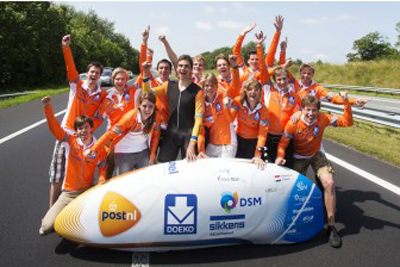 Dutch universities team up with AkzoNobel to create world's fastest human-powered vehicle