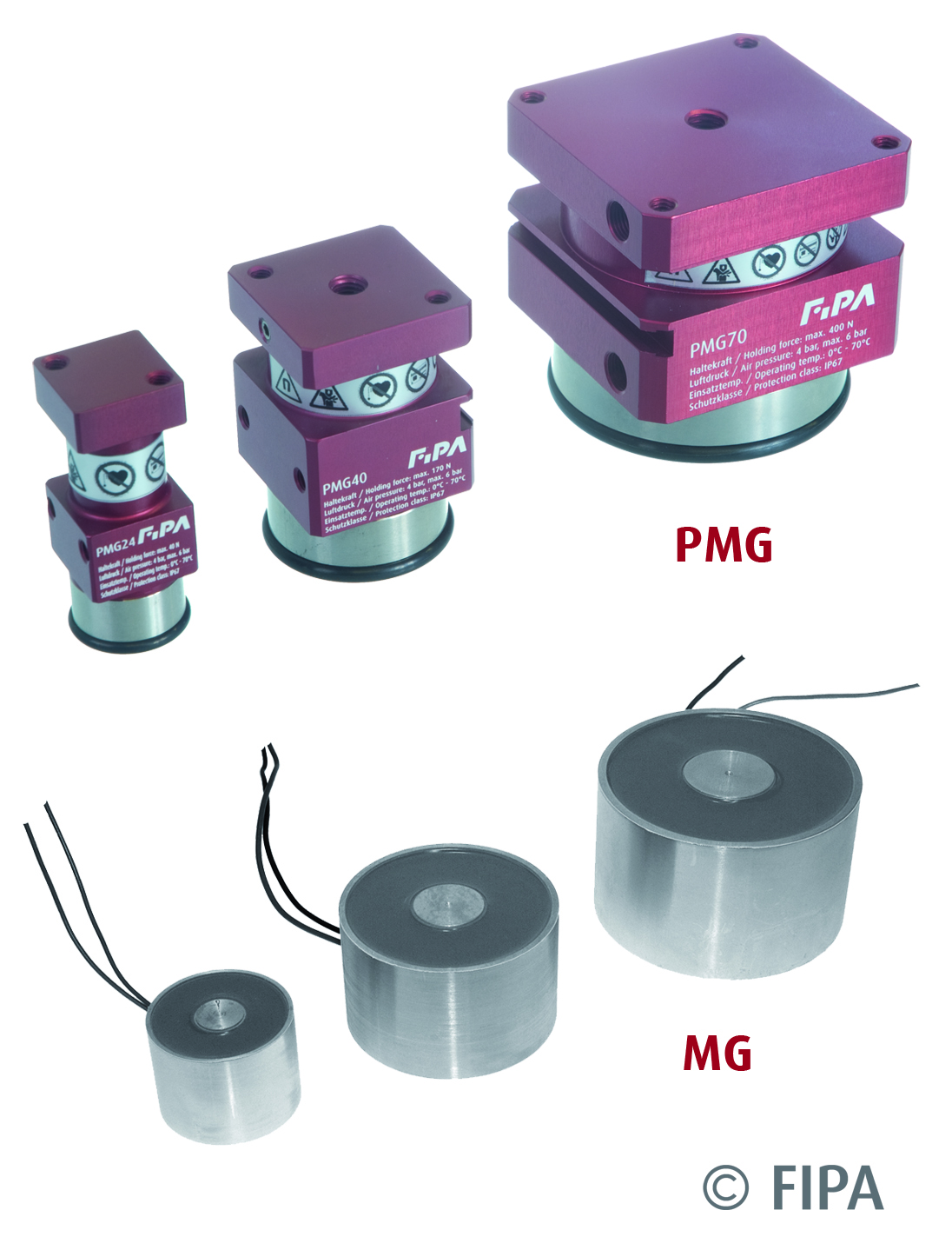 FIPA presents: Electrically and pneumatically controlled magnetic grippers