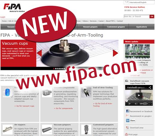 FIPA presents: Website relaunch facilitates use