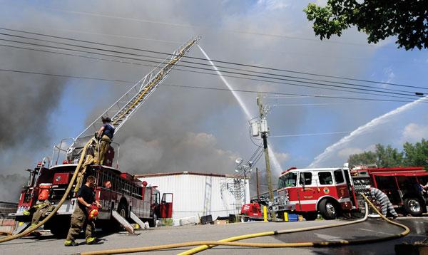 Chattooga recycling mill fire still smoking