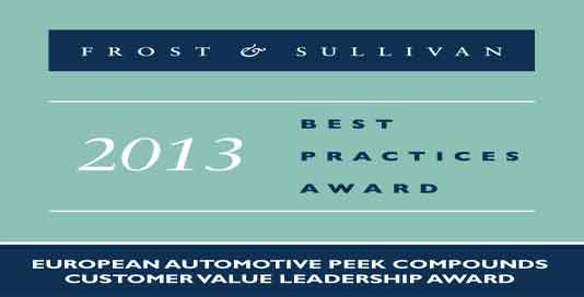 Frost & Sullivan presents Victrex with the 2013 European Customer Value Leadership Award