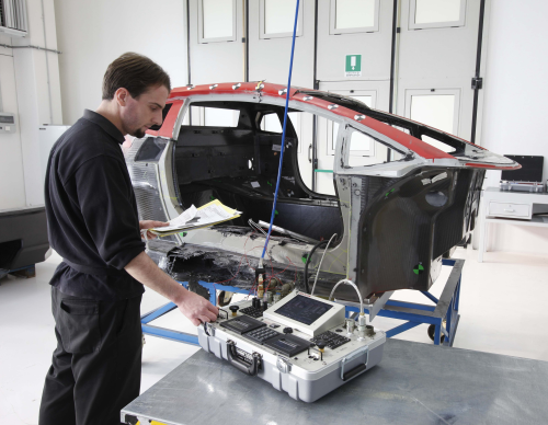 Lamborghini's 'flying doctors' take care of carbon fibre repair