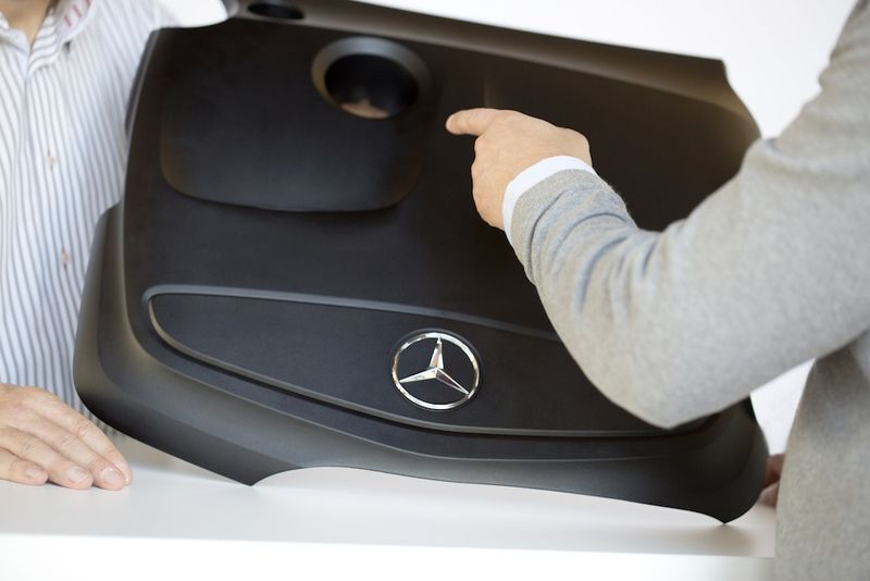 Mercedes-Benz A-Class engine cover in bio-based polyamide from DSM