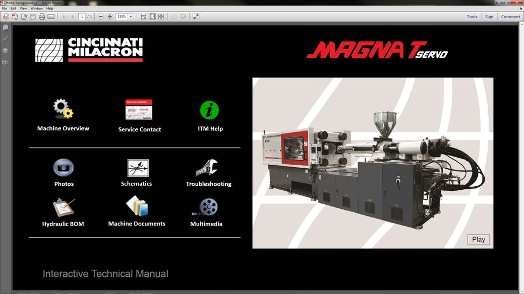 MILACRON® INTRODUCES THE INDUSTRY'S FIRST INTERACTIVE TECHNICAL MANUAL