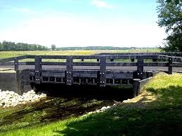 Ohio's Logan County bridge made of 100% recycled plastics, dedicated to public