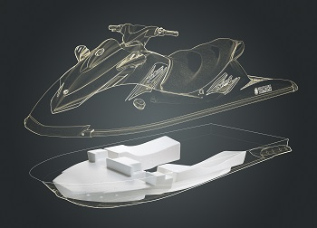 Personal water craft gets buoyancy lift with expandable interpolymer