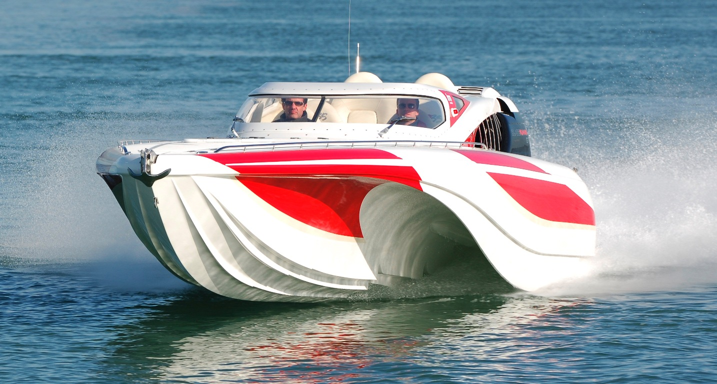 London 2012 Olympics Opening Ceremony Powerboat driven by David Beckham Fabricated using Scott Bader CrysticProducts