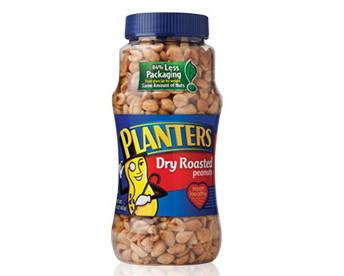 Planters peanuts switches to plastic packaging