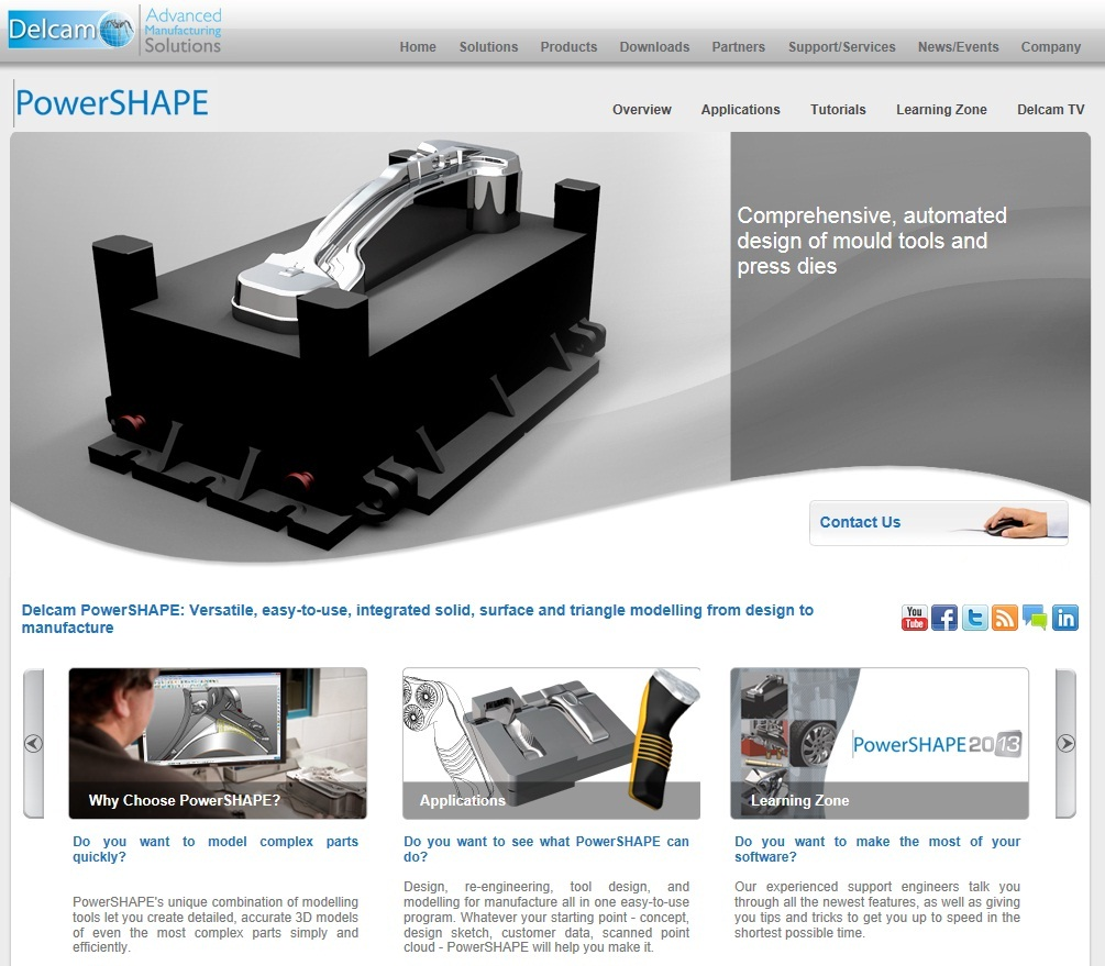 Delcam adds new website for PowerSHAPE CAD software