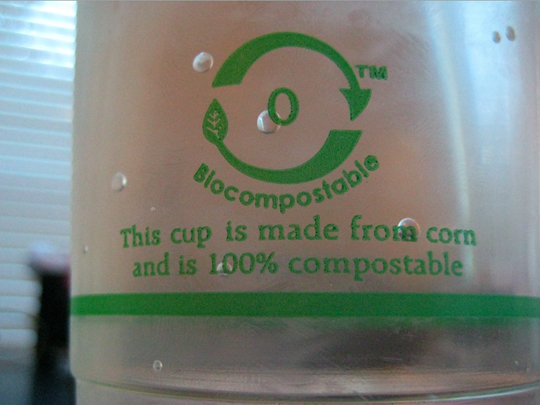 "US GOVERNMENT WARNS ON ""COMPOSTABLE"" PLASTIC"