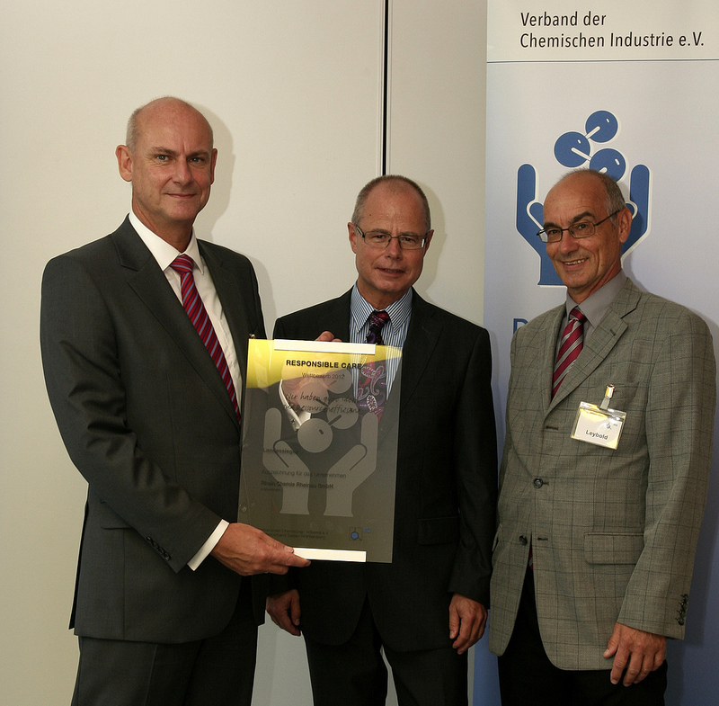 Rhein Chemie wins first prize in VCI Baden-Wuerttemberg's Responsible Care competition