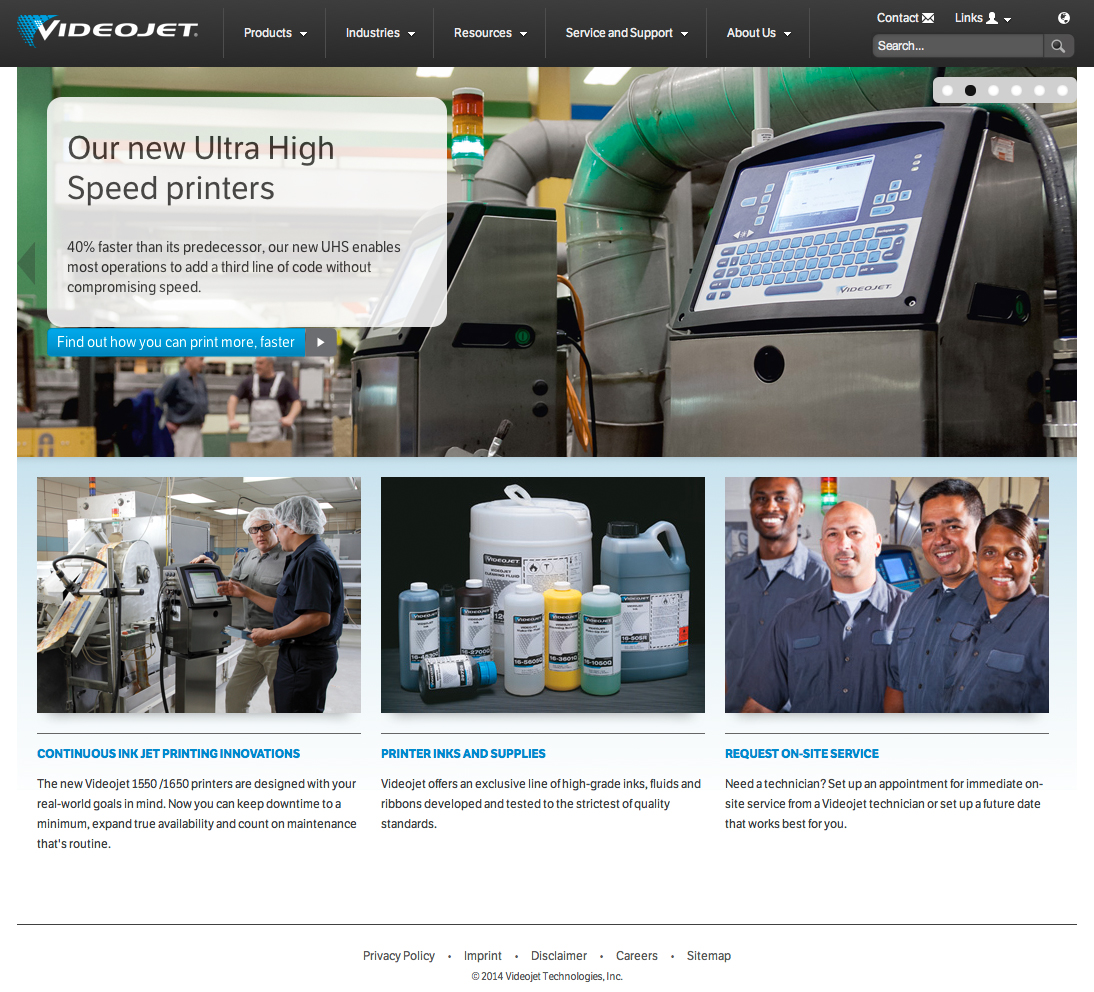 Videojet Launches Information-Rich Global Website