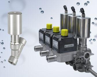Bürkert presents new stainless steel 2/2-way angle seat valve