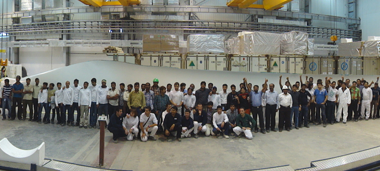 Gamesa opens wind turbine blade factory in India